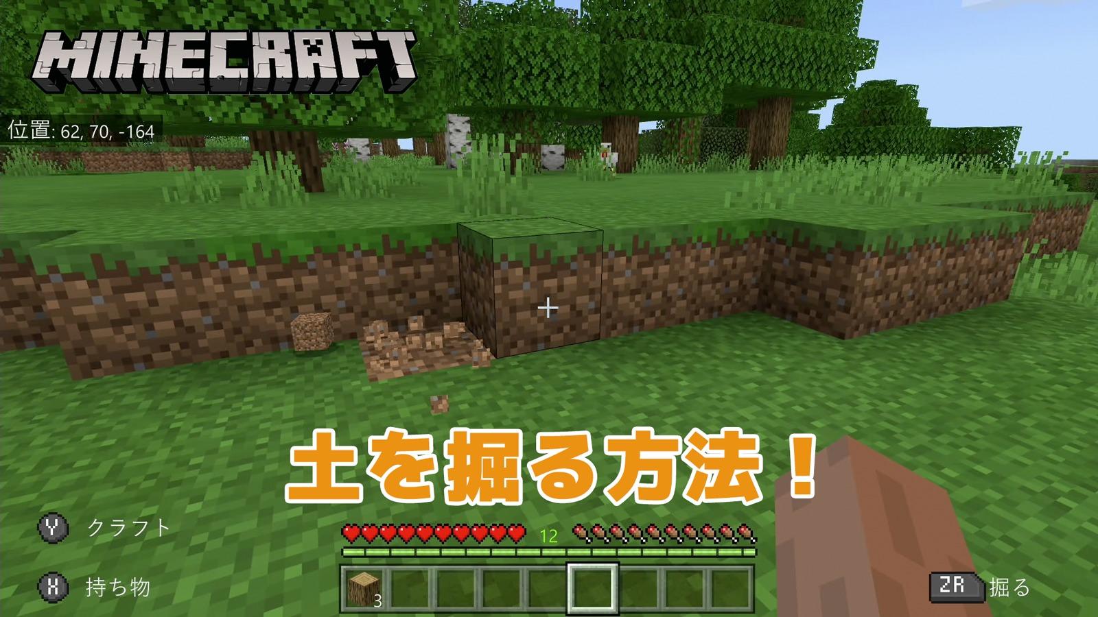 【マインクラフト】土を掘る方法【Switch】